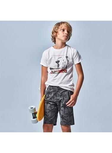 Mayoral Mayoral Erkek Çocuk Baskili Tshirt Beyaz 20204 Beyaz